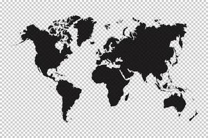 carte du monde et fond de grille vecteur