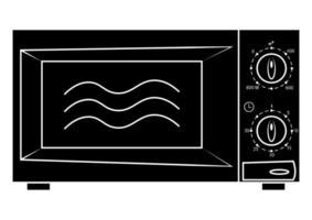 icône de micro-ondes. symbole micro-ondes dans le style glyphe, vecteur simple, icône pour la conception de sites Web, application mobile. four moderne de couleur noire, isolé sur fond blanc