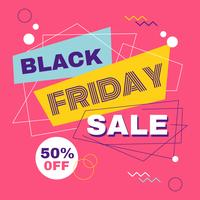 Bannière de vente géométrique vendredi noir