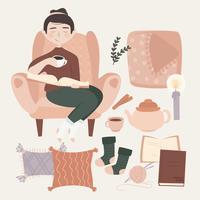Illustration de réglage de vecteur confortable