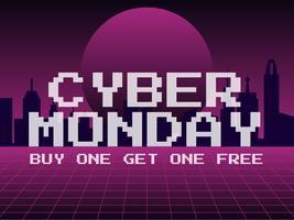 Funky Cyber Monday, vecteurs de publication sur les médias sociaux vecteur