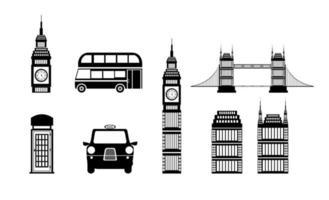 ensemble d'icônes de la culture britannique vecteur