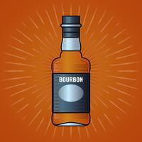 Whisky Bottle Label Gravure Illustration Vintage vecteur