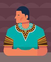 Homme en illustration de Dashiki vecteur