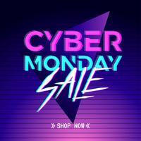 Modèle de publication de médias sociaux de danse électronique Cyber Monday. vecteur