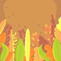 fond de feuilles de printemps vecteur