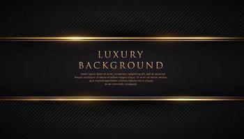 bande noire de luxe avec bordure dorée sur le fond de texture de ligne diagonale sombre. bannière d'invitation vip. haut de gamme et élégant. illustration vectorielle. vecteur