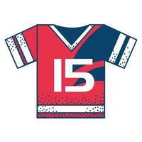 uniforme de maillot de sport vecteur