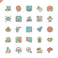 Éléments du projet de démarrage ligne plate et éléments de développement icônes définies pour site Web et site mobile et applications. Esquisser la conception des icônes. 48x48 Pixel Parfait. Pack de pictogrammes linéaires. Illustration vectorielle vecteur