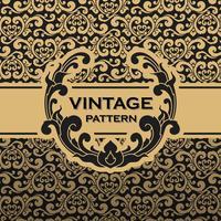 Vintage fleurit vigne sans soudure de fond vecteur