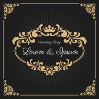 Modèle de logo Monogram Vintage Luxury vecteur