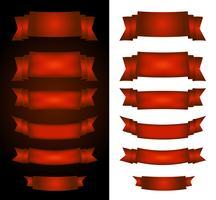 Bannières de cirque rouge sur fond noir et blanc vecteur