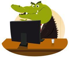 bankster de crocodile vecteur