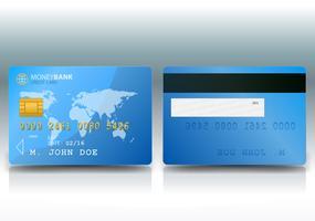 Exemple de carte de crédit vecteur