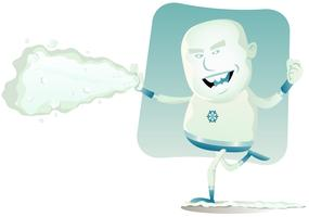 super-héros de bande dessinée - iceman vecteur
