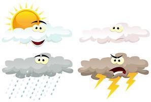 Icônes météo Personnages vecteur