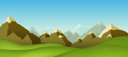 Chaîne de montagnes vecteur