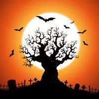 Arbre d'halloween vecteur