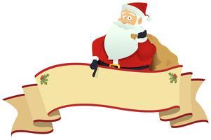 Bannière de défilement du père Noël vecteur