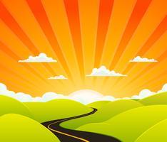 Route du paradis vecteur