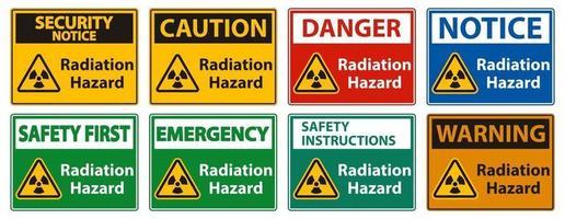 signe de symbole de danger de rayonnement isoler sur fond blanc, illustration vectorielle vecteur