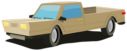 caricature-jaune-voiture vecteur