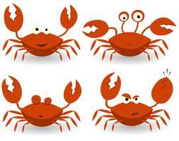 Caractères de crabes rouges vecteur