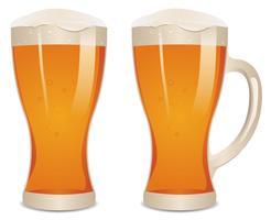 Verre de bière vecteur