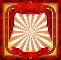 Fond d'affiche cadre de cirque vecteur