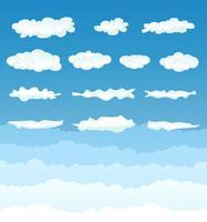 Collection de nuages vecteur