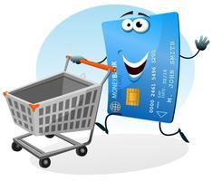 Shopping avec carte de crédit vecteur