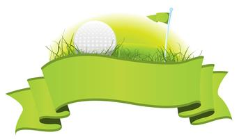 Bannière de golf vecteur
