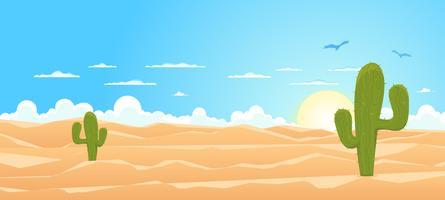 Dessin animé large désert