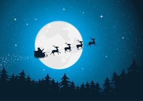 Le traîneau du père Noël vecteur