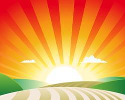 Paysage agricole vecteur