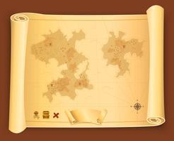 Carte au trésor sur parchemin