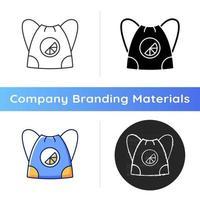 icône de sac à bandoulière de marque vecteur