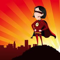 Super Héros - Femme vecteur