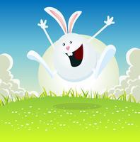 Dessin animé lapin de pâques