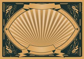 Affiche vintage de rubans et bannières vecteur