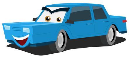 Caractère de voiture bleue vecteur