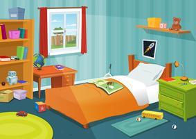 Une chambre d'enfant vecteur