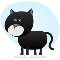 Chat noir dessin animé vecteur