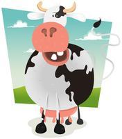 Dessin animé drôle vache