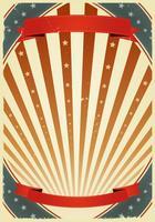 Bannières américaines du 4 juillet vecteur