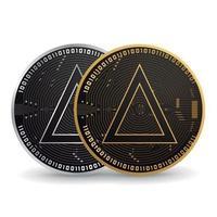 crypto-monnaie sel or et argent vecteur