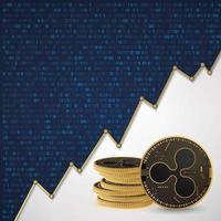 ondulation de la crypto-monnaie numérique vecteur