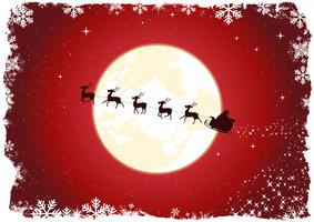 Le traîneau du père Noël grunge vecteur