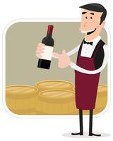 Dessinateur de vin vecteur