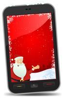 Fond d'écran Smartphone de Noël vecteur